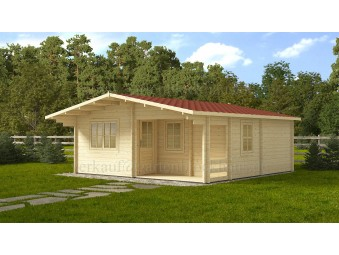 Holz-Sommerhaus FAY 6x6m, 44mm